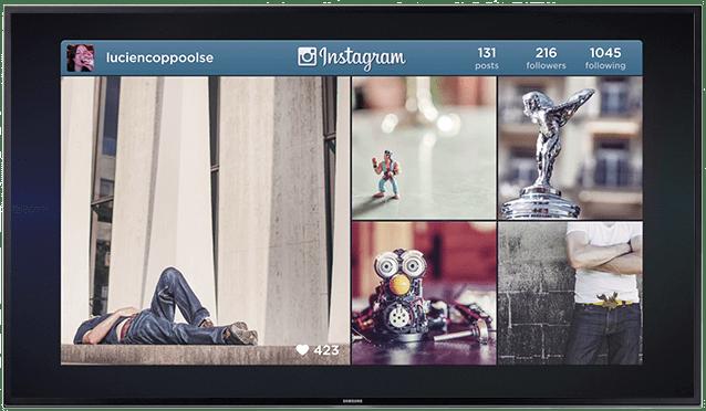 instagram op je scherm