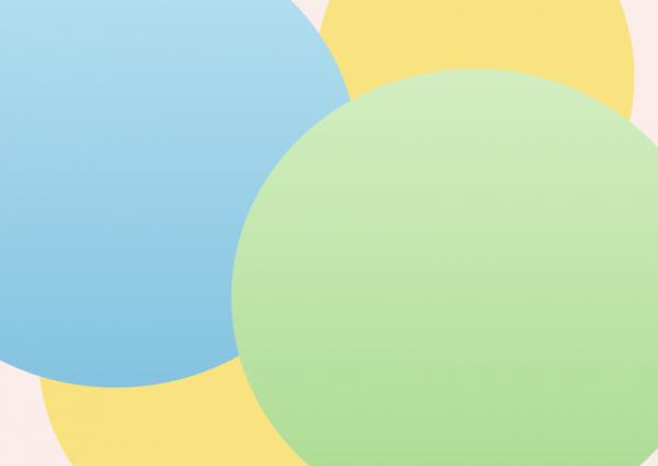 achtergrond met blauw, geel en groene cirkels