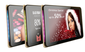 Tablets can be used as a digital signage display