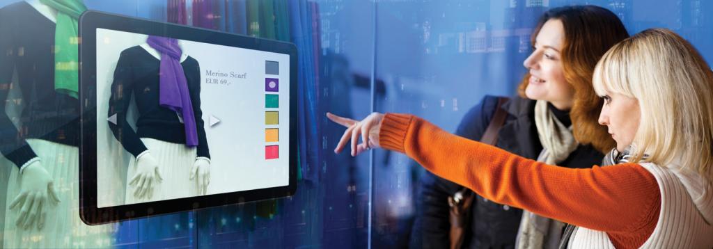 Interactive digital signage display