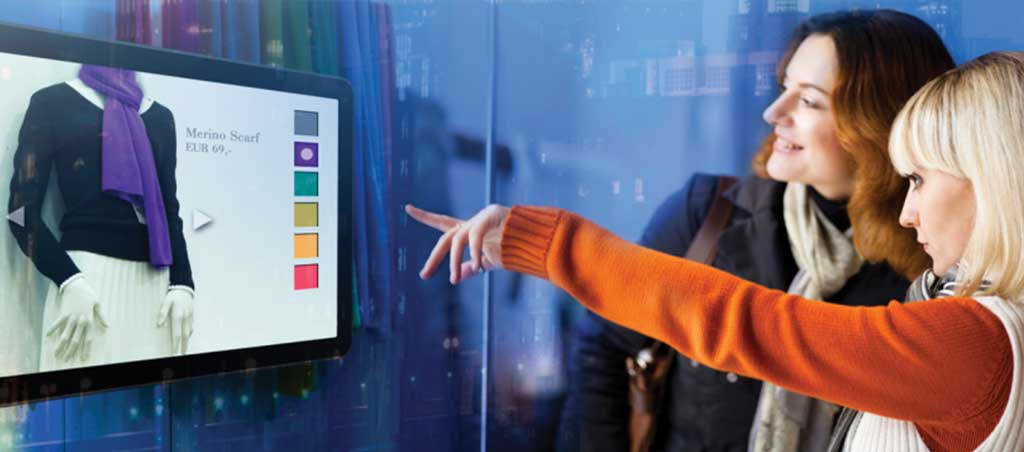 digital signage - start the in-store customer experience with shop window TV