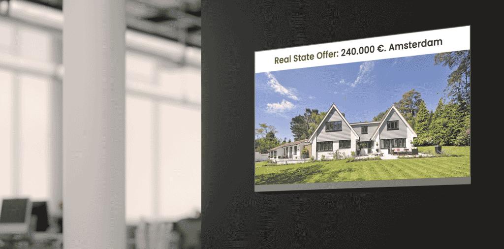 Real estate narrowcasting