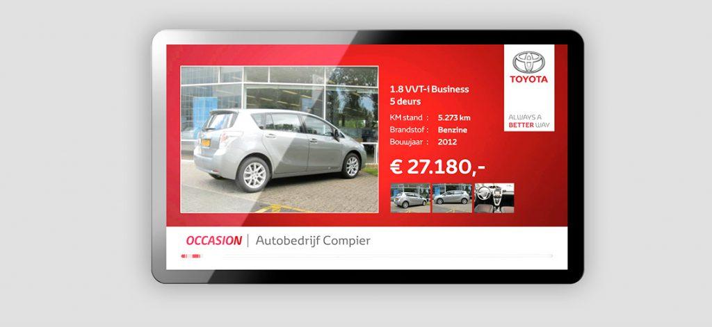 Toyota digital signage