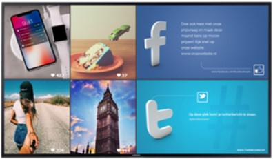 digital signage is used to create an opportunity to share social media