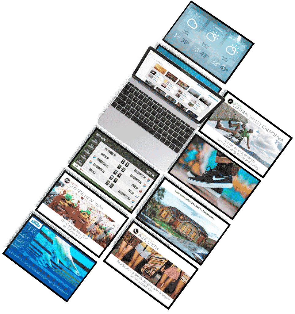 Digital signage templates en widgets
