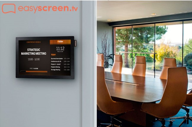 improve internal communications with meeting room tv