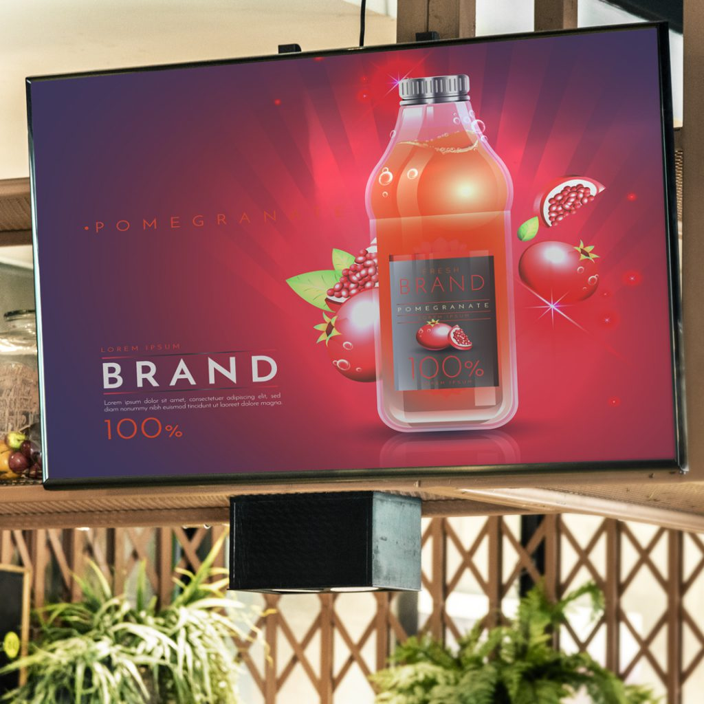 digital signage branding and engagement - create an in-store customer experience