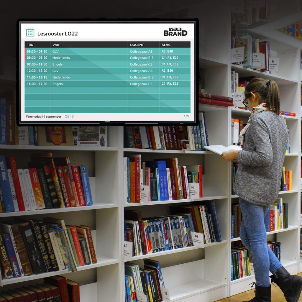 digital signage software for schools
