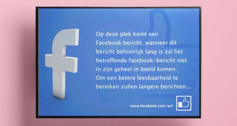 digital signage social media templates by Easyscreen