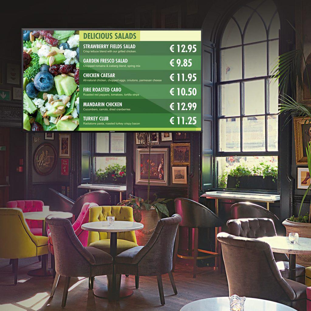 digital menu board - menu tv digital signage