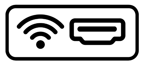 media player with wired or wireless connection