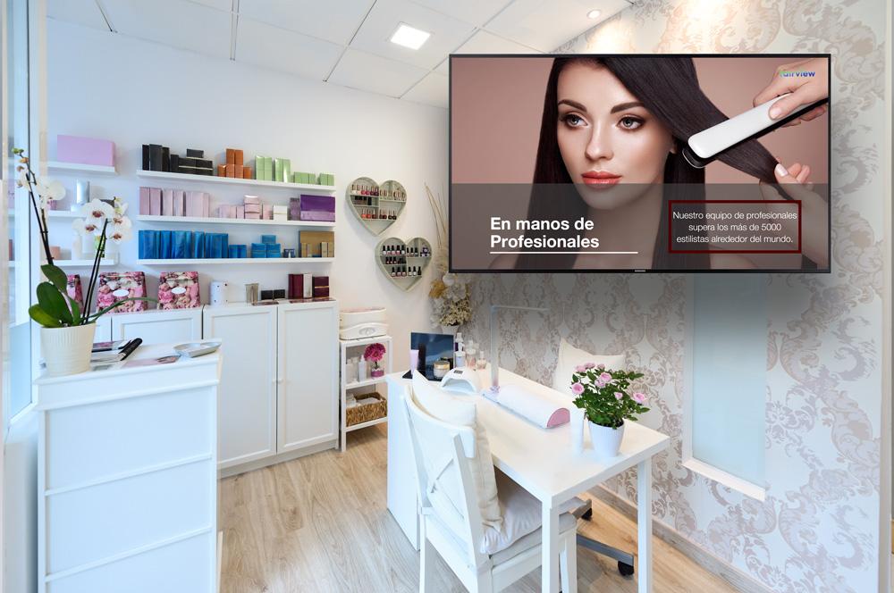 cartelería digital para peluquerías y salones de belleza